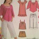 Simplicity Sewing Pattern 4162 Girls Plus Dress Tunic Pants Shorts Size 8-16