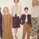 Simplicity Sewing Pattern 8615 Misses Jacket Skirt Size 12-16 UC Water Damaged