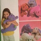 Simplicity Sewing Pattern 4591 Crafts Micro Bead Animal Pillows 3 Designs OS
