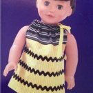 """Simplicity Sewing Pattern 1979 18"""" Doll Dress Uncut Sew Simple"""