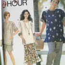 Simplicity Sewing Pattern 7221 Misses Womens Top Pants Shorts Skirt Size 18W-24W