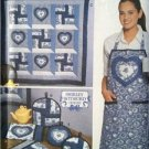 Simplicity Sewing Pattern 9783 Quilt Block Club Place Mat Apron Pot Holder