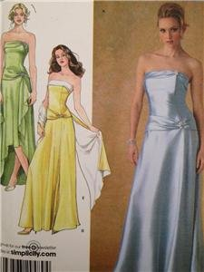Simplicity Sewing Pattern 4272 Misses Evening Dress Wrap Purse Size 8-16 UC