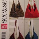 See & Sew Sewing Pattern 5124 Two Lined Handbags Uncut Fashion Accessories