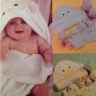 McCalls Sewing Pattern 3697 Crafts Baby Bath Towel, Bib, Bootie, Washmitt