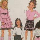 Butterick Sewing Pattern 4338 Girls Childs Top Skirt Pants Size 12-16 Uncut