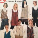 McCalls Sewing Pattern 9466 Ladies Misses Unlined Vest Size S-L Uncut