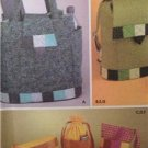 Simplicity Sewing Pattern 5320 Bag Ditty Bottle Backpack Uncut