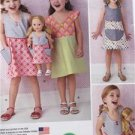 """Simplicity Sewing Pattern 0821 1379 Dress Dress for 18"""" Doll Size 3-6 UC"""
