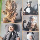 McCalls Sewing Pattern 0246 6105 Cute Toddlers Costumes Elefhant Monkey Size 3