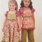 McCalls Sewing Pattern 6062 Girls Childs Dress Top Capri Pants Size 2-5 Uncut
