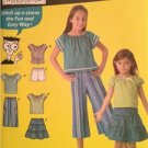 Simplicity Sewing Pattern 4206 Girls Pullover Top Skirt Pants Short Size 7-14