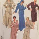 Simplicity Sewing Pattern 7655 Ladies Misses Shawl Collar Or Hooded Robe Size PT