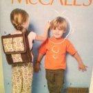McCalls Sewing Pattern 6502 Boys / Girls / Children Pants Backpacks Size 2-5 UC