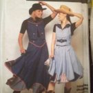 Sewing Pattern No 9438 Simplicity Lined Dancing Skirt and Vest Size 10-16 UC