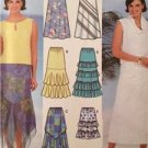Simplicity Sewing Pattern 7227 Ladies Misses Tiered Flared Skirts Size 4-10 UC