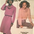 Simplicity Sewing Pattern 8162 Ladies Misses Knit Pullover Top Skirt Size 14-16