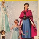 McCalls Sewing Pattern 0381 7000 0370 Frozen Elsa Anna Costumes Childs Sz 3-14