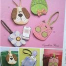 McCalls Sewing Pattern 5644 Cell Phone Case Holder Uncut Frog Puppy Flower