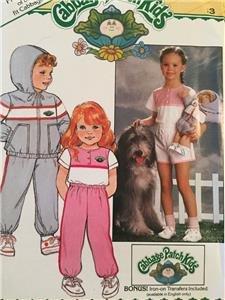 Butterick Sewing Pattern 6589 Girls Cabbage Patch Kids Jacket Shorts Size 3 UC