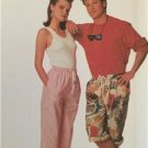 Simplicity Sewing Pattern 8632 Misses Mens Teens Boys Pull On Pants Size MD UC