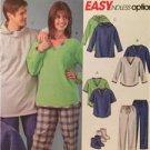 McCalls Sewing Pattern 4675 Ladies Misses Mens Pants Tops Socks Blanket Siz XS-M
