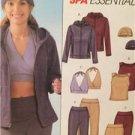 McCalls Sewing Pattern 4664 Ladies Misses Jacket Tops Pants Cap Size XS-M UC