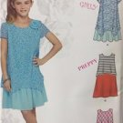 Simplicity Sewing Pattern 1175 Girls Plus Dresses Size 8 1/2-16 1/2 Uncut