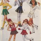 McCalls Sewing Patterns 6071 Girls Childs Tops Skirt Detachable Bib Briefs Sz 7