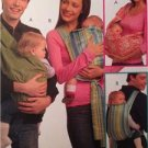 McCalls Sewing Pattern 5678 Baby Tie Sling Baby Carriers Size S-L UC 35LBS UC