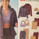McCalls Sewing Pattern 4664 Ladies Misses Jacket Tops Pants Cap Size L-XL UC