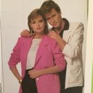 Simplicity Sewing Pattern 8666 Misses Mens Teens Unlined Jacket Size LG Uncut