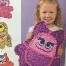 Simplicity Sewing Pattern 1237 Rag Quilted Monster Pillows Size O/S Uncut