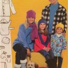McCalls Sewing Pattern 4982 Mens Misses Childrens Scarf Shirt-Jacket Size All UC