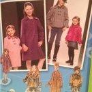Simplicity Sewing Pattern 2876 Children Girls Coat Jacket Hat Runway 7-14