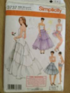 Sewing Pattern No 3737 Simplicity Ladies Petticoat Panties Size 6-12 Uncut