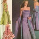 Simplicity Sewing Pattern 4655 Misses Ladies Evening Dress Shwal Size 26W-32W