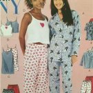 McCalls Sewing Pattern 3432 Juniors Pajamas Nightgown Camisole Size 11/12-17/18