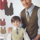 Simplicity Sewing Pattern 1745 Boys Men Vest Tie Size S-L S-XL Uncut