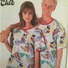 Simplicity Sewing Pattern 7967 Misses Mens Loose Fitting Knit T-Shirt Size XS UC