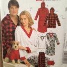 McCalls Sewing Pattern 5770 Misses Mens Teens Nightshirt Pants Size XS-MDUncut
