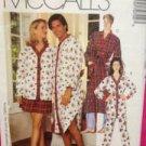 McCalls Sewing Pattern 7970 Adults Nightshirt Pants Short Robe Size SM-LRG UC
