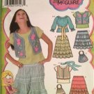 Simplicity Sewing Pattern 4295 Child Girls Skirt Top Vest Bag Scarf 8 1/2-16 1/2
