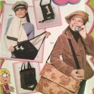 Simplicity Sewing Pattern 4073 Childs Girls Hats Bags Accessories All Sizes