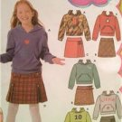 Simplicity Sewing Pattern 4972 Lizzie Childs Girls Plus Skirt Knit Top Size 8-16