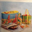 McCalls Sewing Pattern 0357/6338 Food Carriers Hot Pad Picnic Totes Uncut