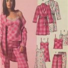 McCalls Sewing Pattern 5248 Ladies Misses Robe Belt Top Nightgown Size XS-MD