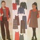 Simplicity Sewing Pattern 4839 Girls Jacket Vest Pants Jumper Size 7-16 Uncut