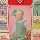 McCalls Sewing Pattern 4633 Infant Babys Blouse Jumpsuit Jumper Size S-XL Uncut