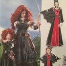 McCalls Sewing Pattern 6817 0373 Brave Girls Merida Vampire Costumes Sz 3-8 UC